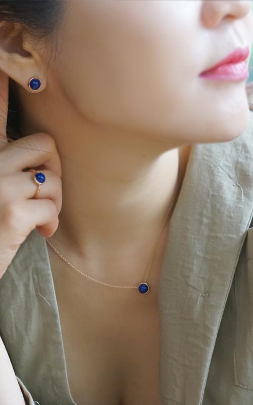 1015107 - [나스첸카 NASCHENKA] 청금석 14K 닷 _ lapis lazuli  14K 청금석 귀걸이