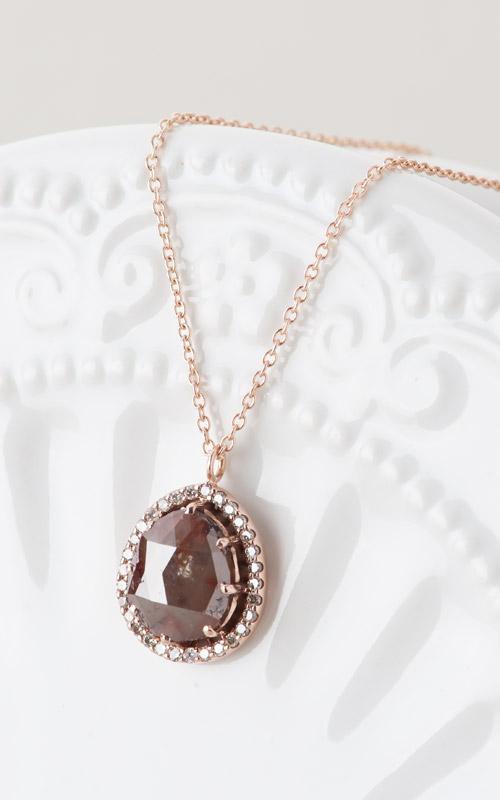 1015882 - [나스첸카 NASCHENKA] 러프 다이아몬드 헤서웨이 물방울 목걸이    _ 14K 러프 다이아몬드 목걸이