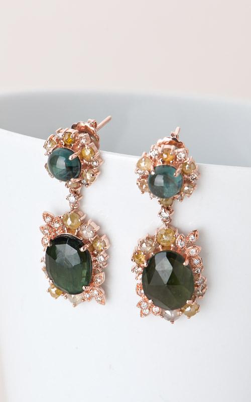 1016137 - 나스 소더비 컬렉션 _ 14K 토르마린 다이아몬드 귀걸이