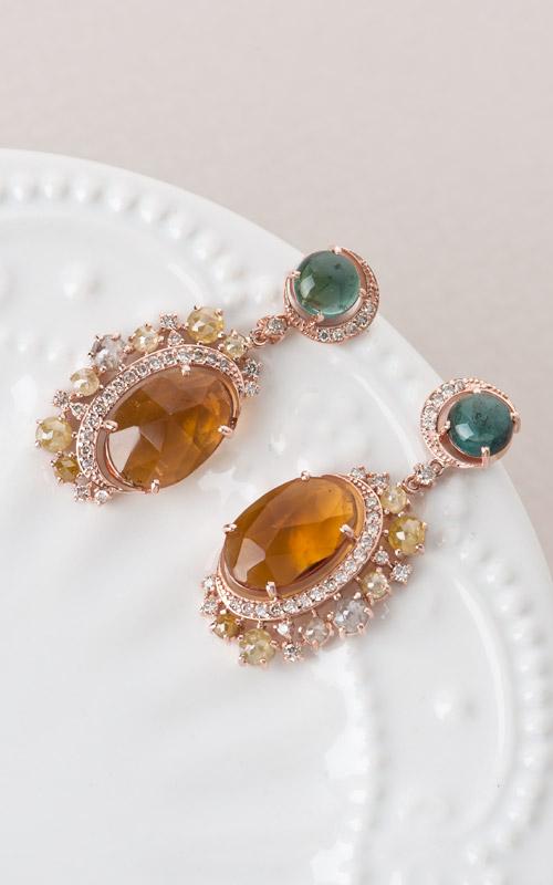 1016138 - [나스첸카 NASCHENKA] 나스 소더비 컬렉션 _ 14K 토르마린 귀걸이 다이아몬드 귀걸이