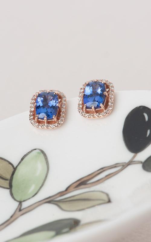 1017567 - [나스첸카 NASCHENKA] 탄자나이트 헤서웨이 이어링 _ 14K 다이아몬드 탄자나이트 귀걸이
