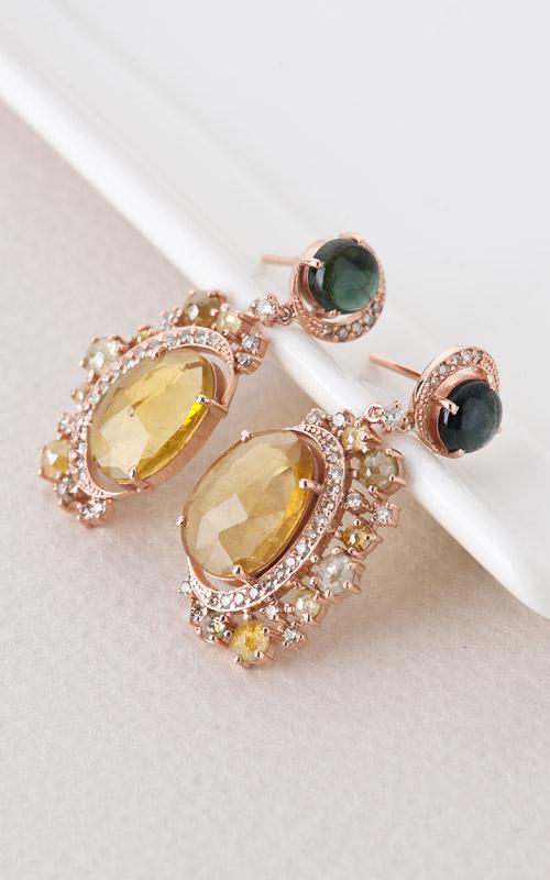 1019789 - [나스첸카 NASCHENKA] 나스 소더비 컬렉션 _ 14K 토르마린 귀걸이 다이아몬드 귀걸이