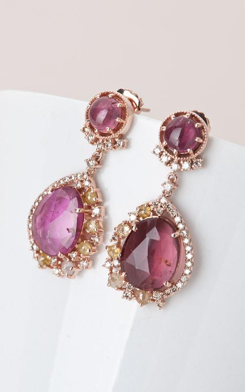 1019790 - [나스첸카 NASCHENKA] 나스 소더비 컬렉션 _ 14K 토르마린 귀걸이 다이아몬드 귀걸이
