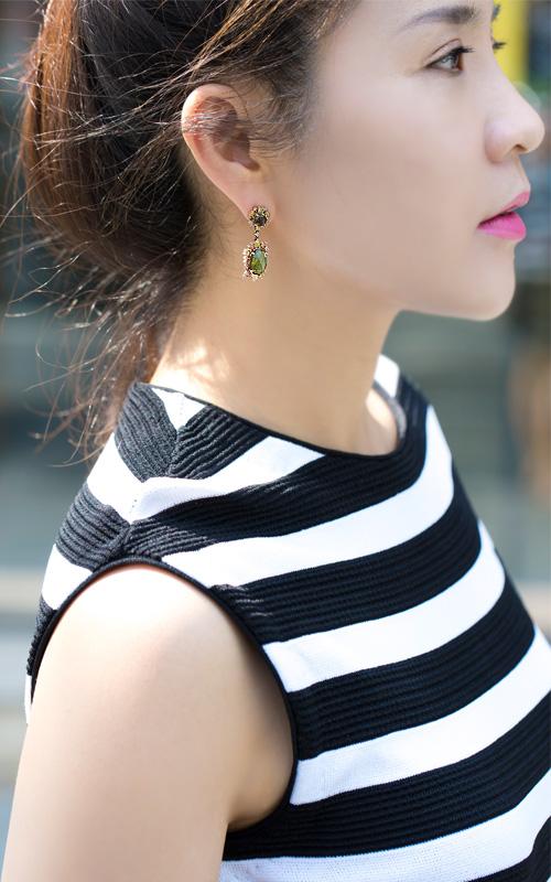 1019791 - [나스첸카 NASCHENKA] 나스 소더비 컬렉션 _ 14K tourmaline earring 토르마린 귀걸이 다이아몬드 귀걸이