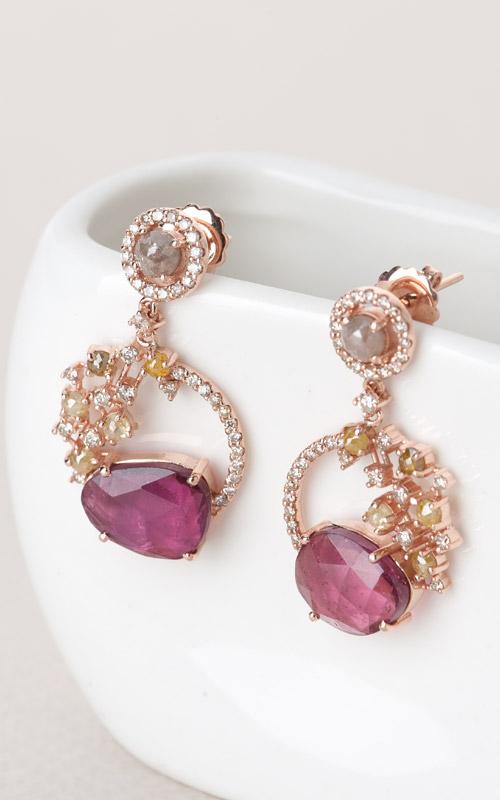 1019792 - [나스첸카 NASCHENKA] 나스 소더비 컬렉션 _ 14K 토르마린 귀걸이 다이아몬드 귀걸이