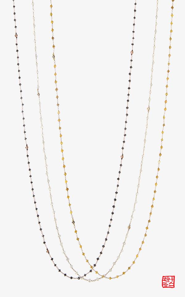 1139311 - [나스첸카 NASCHENKA] 찬란한 빛의 움직임 _ 14K 러프 다이아몬드 목걸이