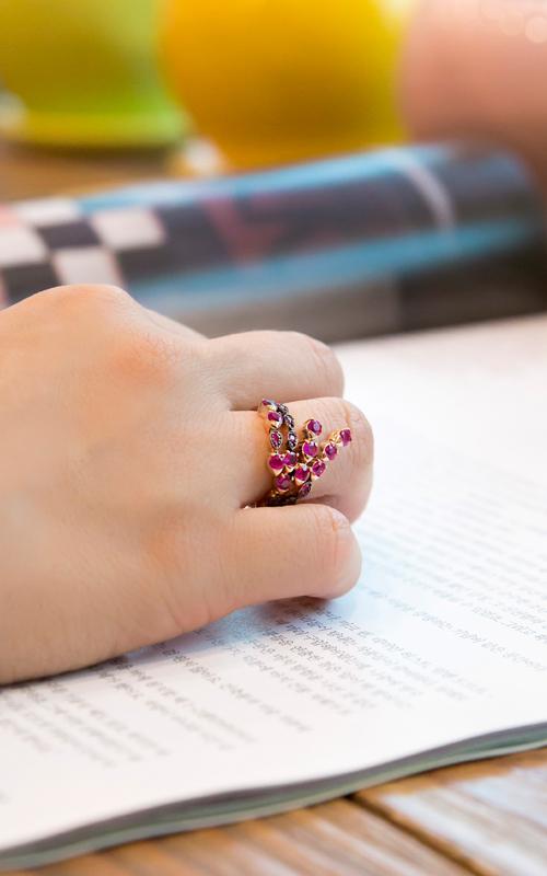 1164095 - [나스첸카 NASCHENKA] 낙원의 루비 _ 14K 루비 반지