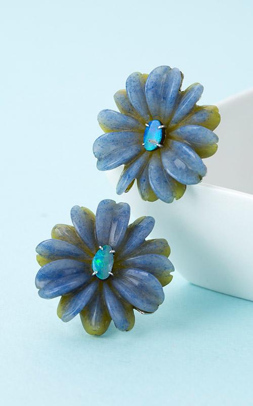 1199067 - [나스첸카 NASCHENKA] 산뜻한 컬러감 Duet _ 오팔 귀걸이 사문석 귀걸이 듀모티에라이트 귀걸이