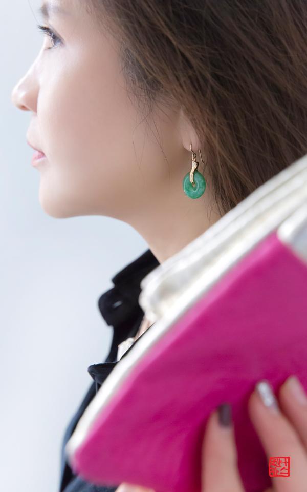 1221088 - [나스첸카 NASCHENKA] 시간을 선물하는 비취 _ jade 비취 귀걸이