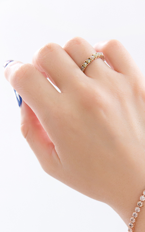 1378395 - [나스첸카 NASCHENKA] 클래식 공유 _ 14K 러프 다이아몬드 반지