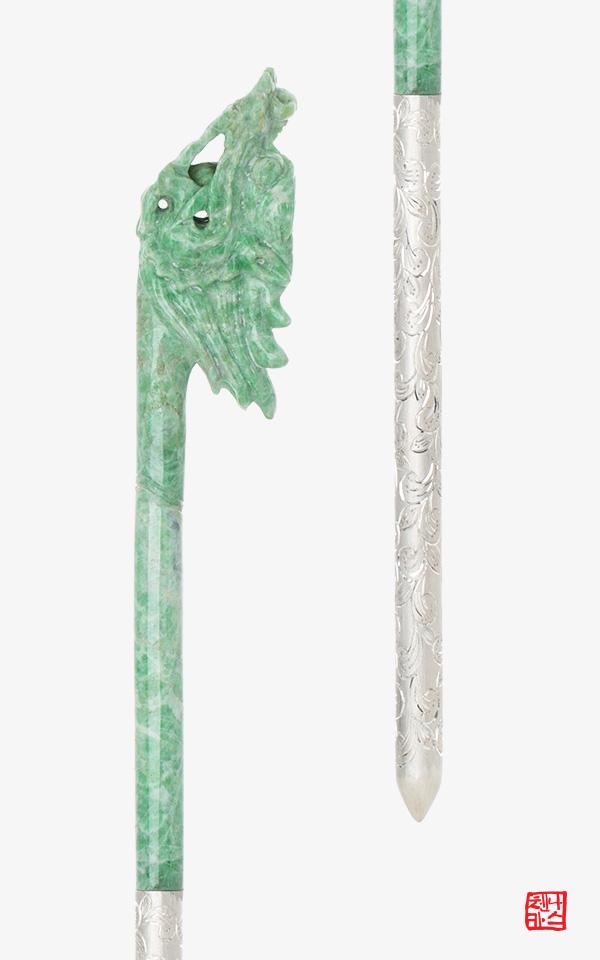 1411443 - [나스첸카 NASCHENKA] 여의주를 물고있는 비취 비룡잠 용비녀 2 _ 한복비녀 _ 전통비녀