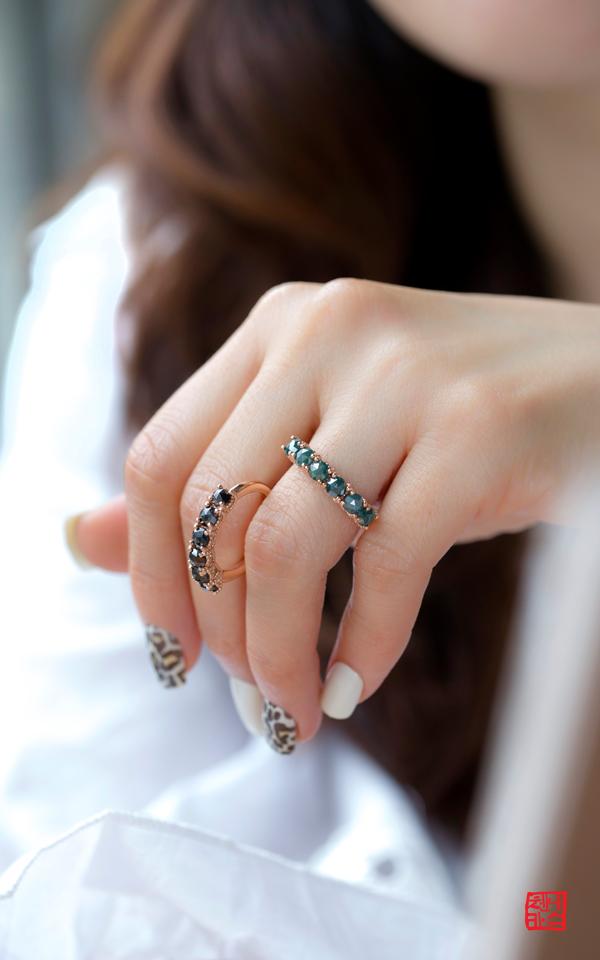 1415028 - [나스첸카 NASCHENKA] 타슬 러프 다이아몬드 _ 14K 러프 다이아몬드 반지