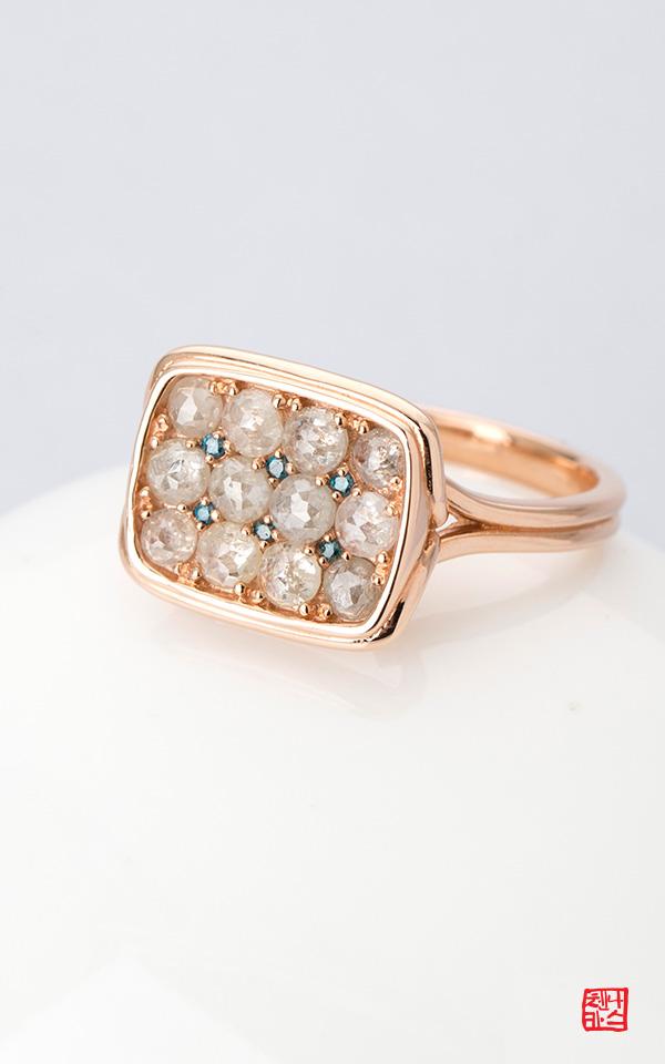 1421943 - [나스첸카 NASCHENKA] 샤크 샤크 2 _ 14K 러프 다이아몬드 반지