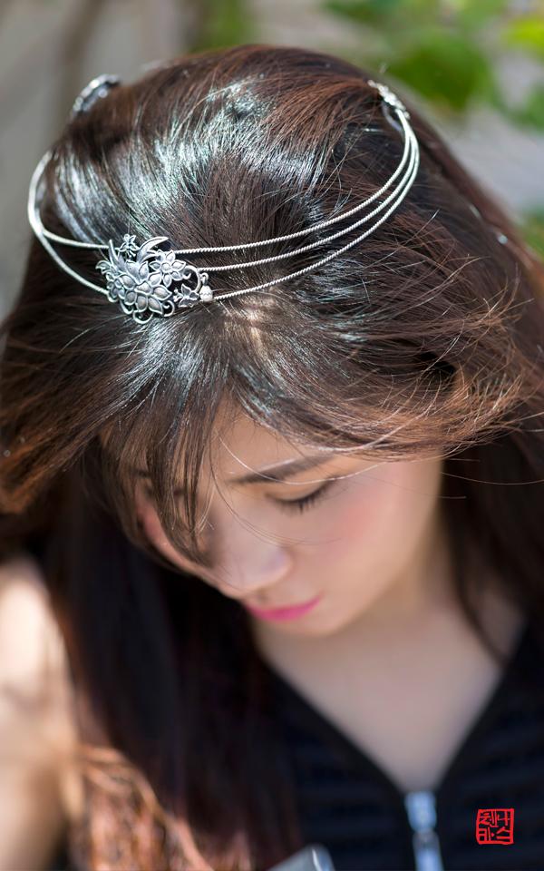 9510 - [나스첸카 NASCHENKA] 나스의 프리버드 3 _ 봉황 왕관형 머리띠 [실버 수공예 머리띠 뒤꽂이형 왕관]