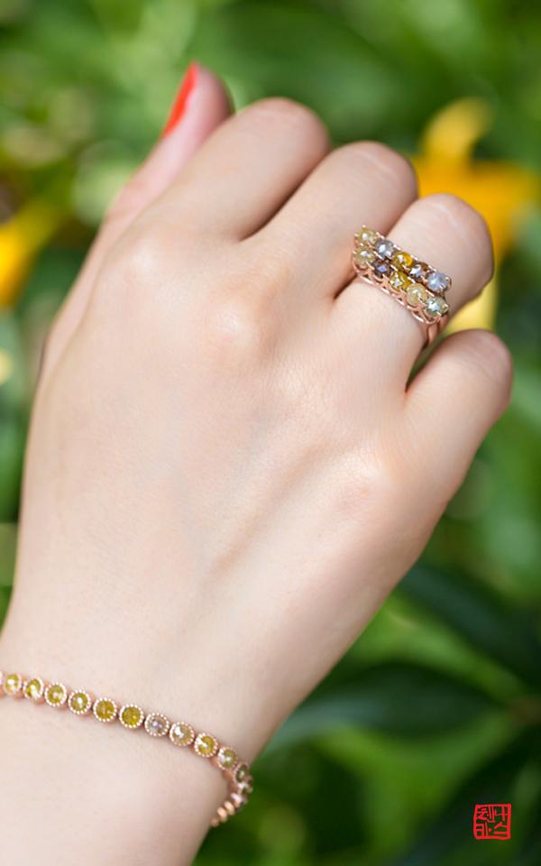 1127028 - [나스첸카 NASCHENKA] 반짝이는 내 마음 _ 14K rough diamond  러프 다이아몬드 반지