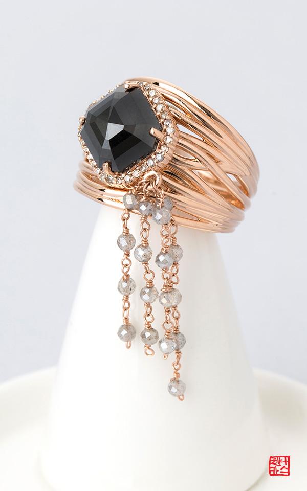 1421584 - [나스첸카 NASCHENKA] 나랑 연애할래요 _ 18K 러프 다이아몬드 반지