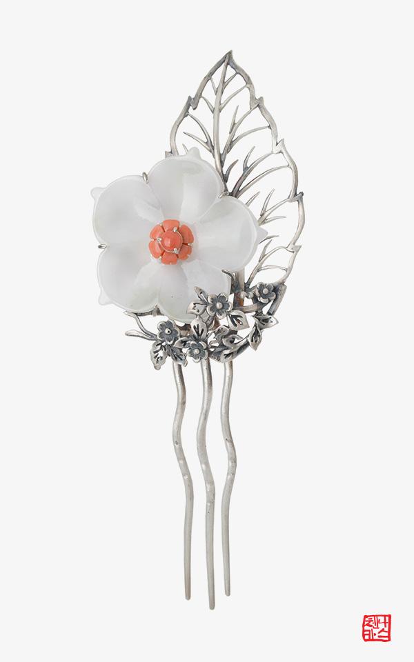 1456361 - [나스첸카 NASCHENKA] 풍성한 머릿결 _ 뒤꽂이_한복뒤꽂이_비녀_은비녀_올림머리비녀_한복장신구 _ 한복 머리장식 _ 결혼준비 _ 신랑어머니한복
