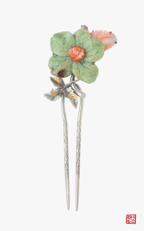 1456655 - [나스첸카 NASCHENKA] 사랑은 가득한걸 _ 크리소프레이즈 원석 뒤꽂이 비녀