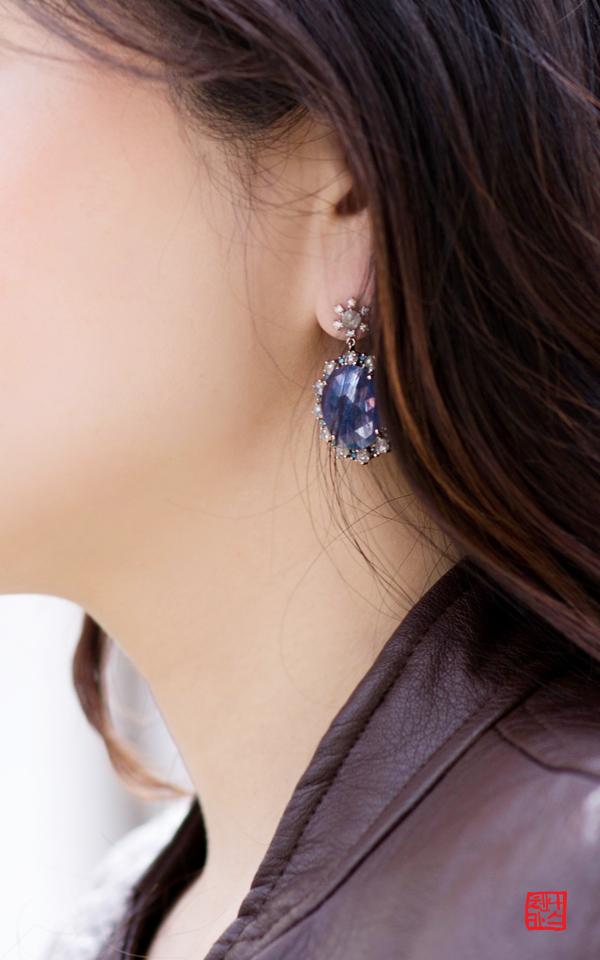 1017414 - [나스첸카 NASCHENKA] 나스 소더비 컬렉션 _ 14K 사파이어 귀걸이 다이아몬드 귀걸이