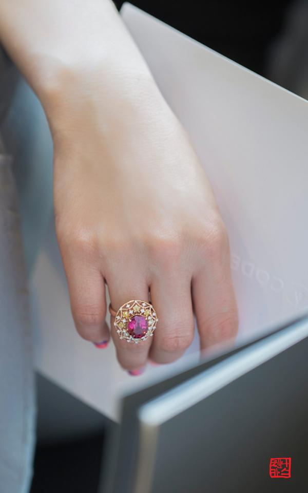 1077281 - [나스첸카 NASCHENKA] 이브닝 레이디 _ 14K 투어마린 반지 토르마린 반지