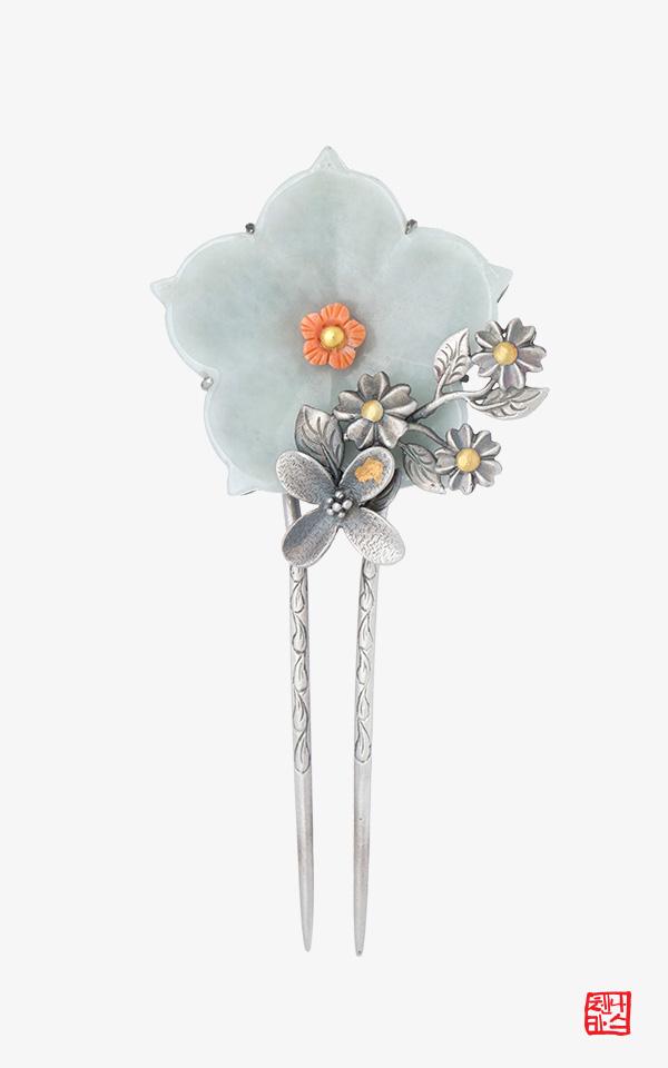 1469367 - [나스첸카 NASCHENKA] 따뜻한 애정 _ 비취뒤꽂이 한복악세사리 옥비녀
