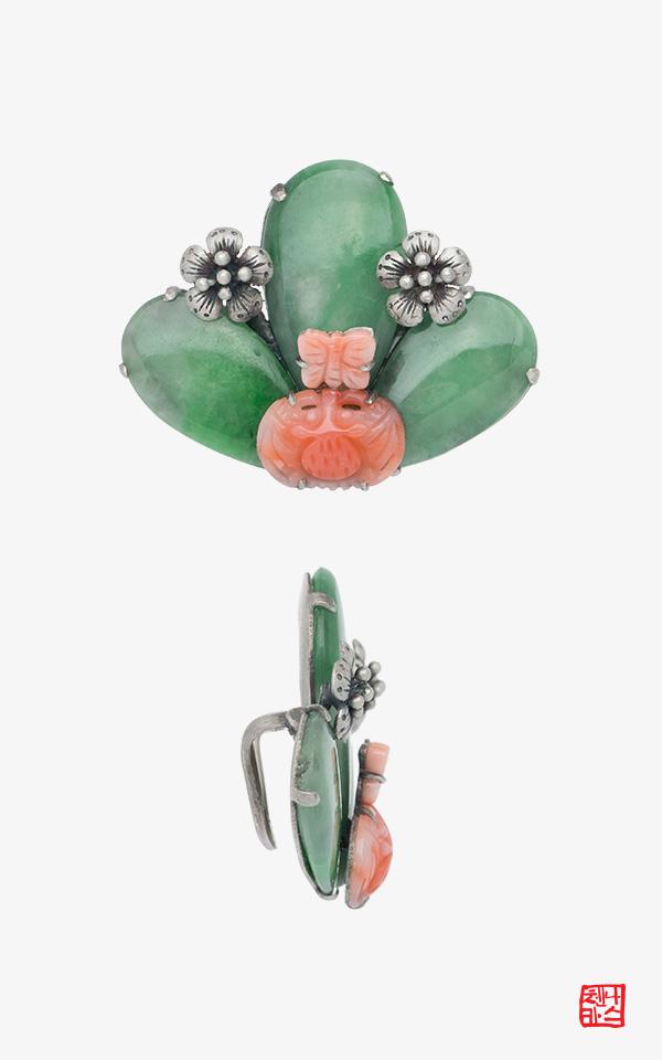 1470809 - [나스첸카 NASCHENKA] 꽃들 사이로 _ 비취띠돈 산호띠돈 한복악세사리
