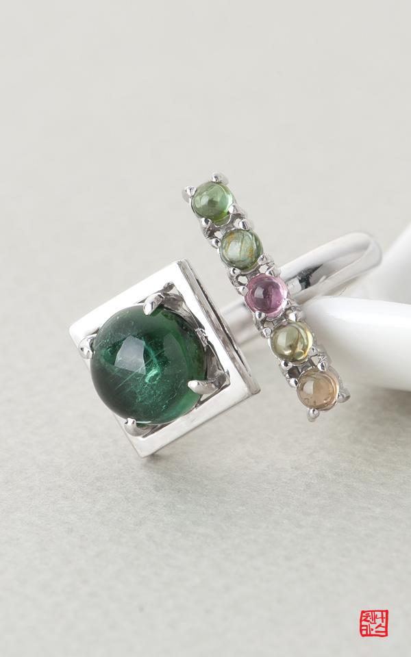 1476878 - [나스첸카 NASCHENKA] 미 美 반지 _ 토르마린 반지 은반지
