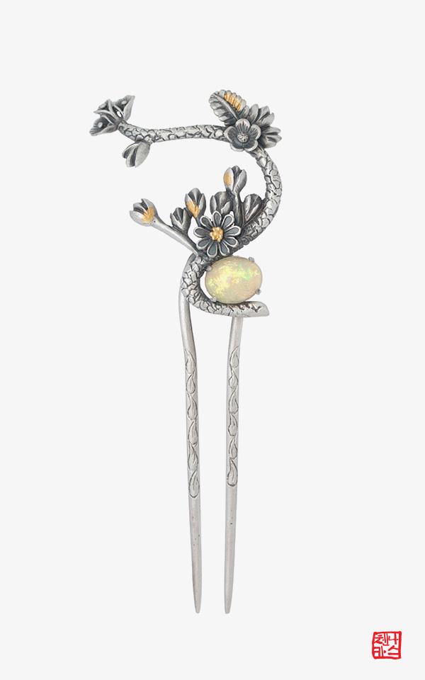 1472029 - [나스첸카 NASCHENKA] 용솟음치는 아우라 2 _ 산호뒤꽂이 오팔뒤꽂이 비녀