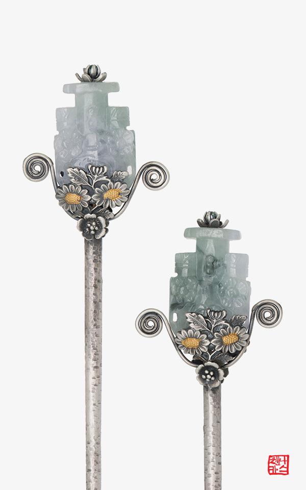 1484369 - [나스첸카 NASCHENKA] 가장 귀하고 진실된 선물 _ 비취 옥 머리핀 비녀