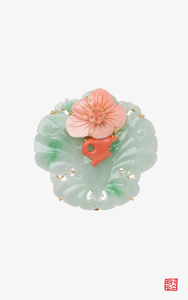 1490598 - [나스첸카 NASCHENKA] 어여쁜 나비 _ 비취브로치 첩지 배씨댕기 전통장신구