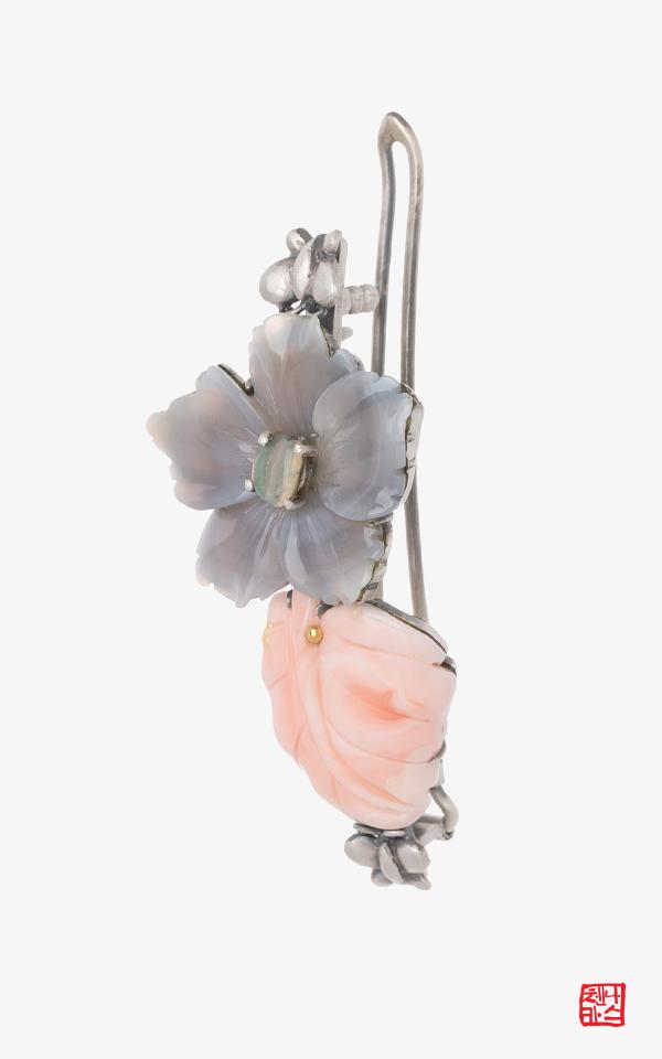 1512990 - [나스첸카 NASCHENKA]  섬연한 핑크_ 산호헤어핀 머리핀